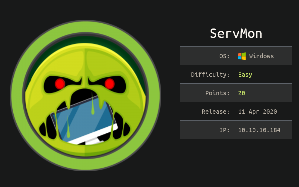 HackTheBox Writeup: Servmon