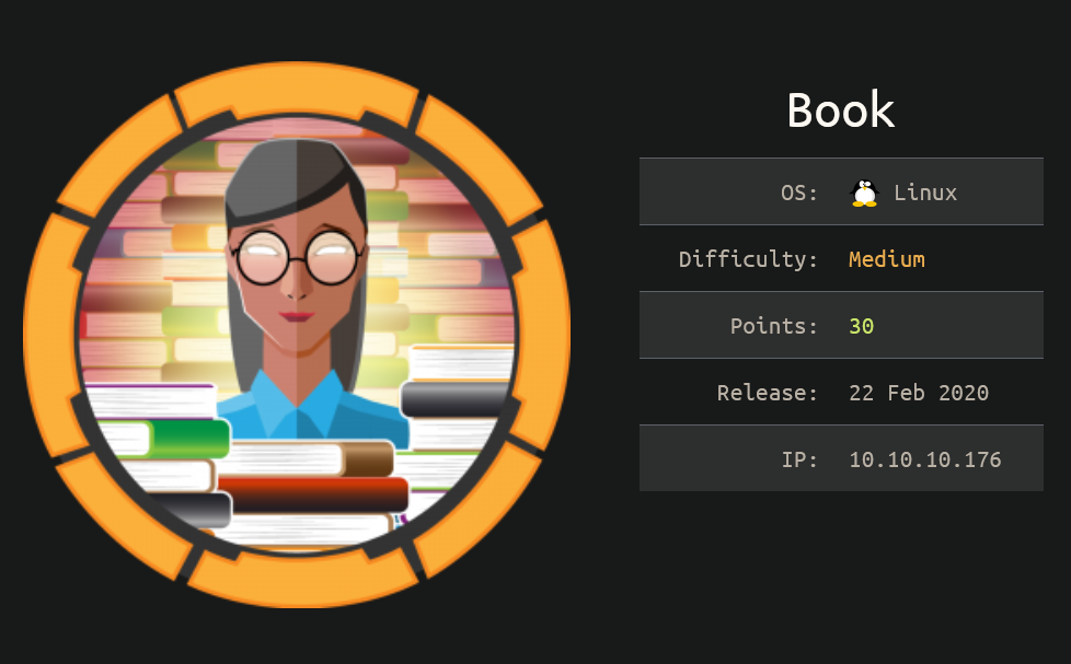HackTheBox Writeup: Book