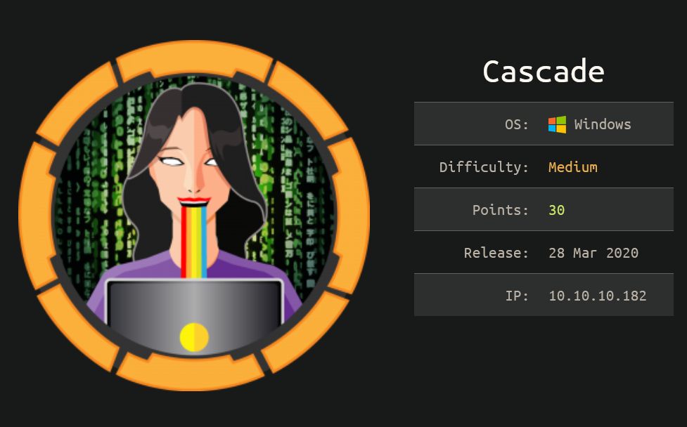 HackTheBox Writeup: Cascade