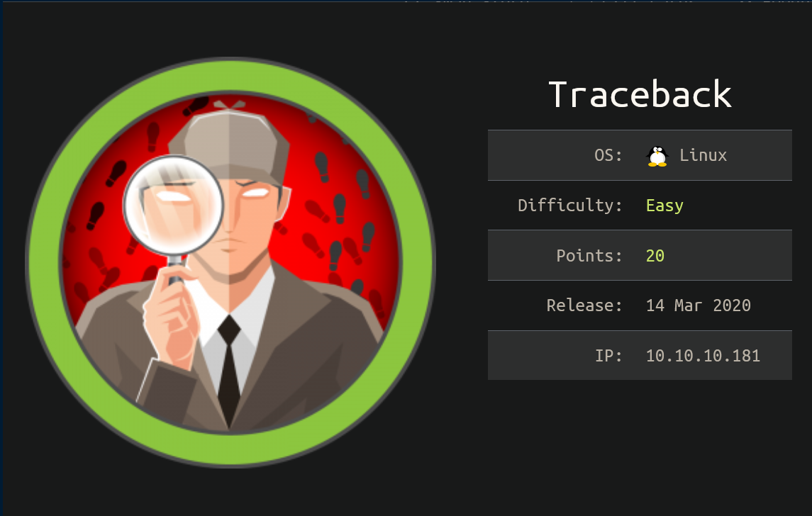 HackTheBox Writeup: Traceback